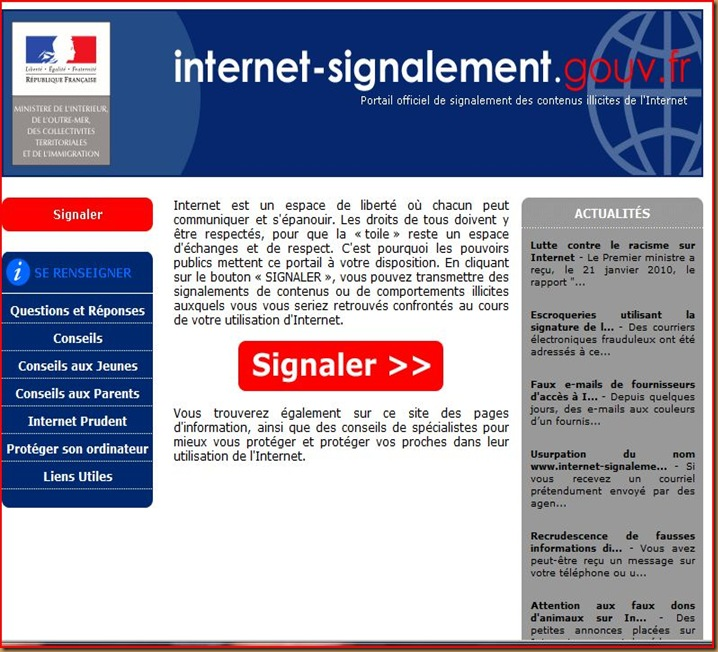 internet signalement