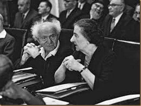 ben gurion Golda Meir