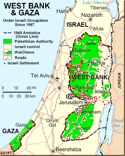Israel frontières